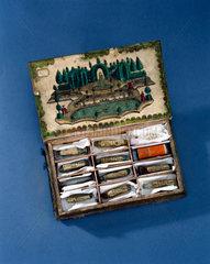 Book-shaped essence box  Italian  late 18th century.