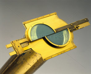 Split-lens micrometer attached to a Gregorian reflecting telescope  1763-65.