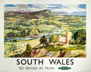 South Wales  BR (WR) poster  c 1950s.