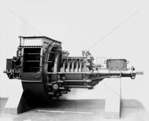 Radial flow turbine engines originally fitted to the 'Turbina'  c 1894.
