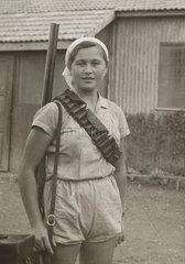 Jewish markswoman  Palestine  c 1935.