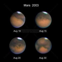 Mars  August 2003.