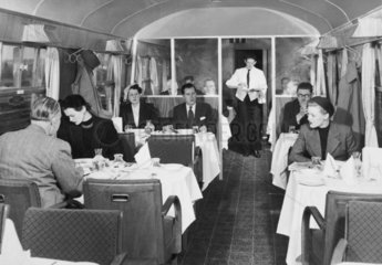 British Rail standard coach  first class restaurant car 1951.
