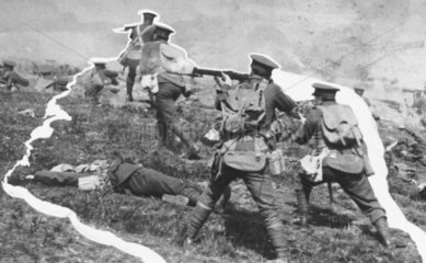 Soldiers on the offensive on the Western Fr
