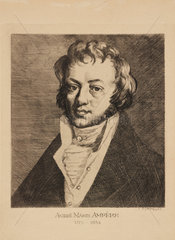 Andre-Marie Ampere  French physicist and mathematician  c 1820.
