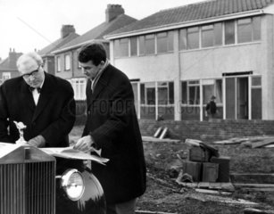 'Plastic' houses  Darfield  Yorkshire  January 1966.
