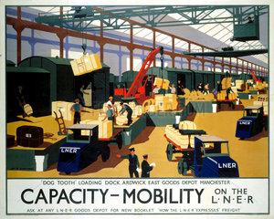 'Capacity/Mobility on the LNER'  LNER poster  1933.