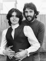 Ricky Villa and pregnant wife Christina  1982.