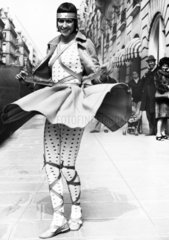 Spotty mini dress  April 1972.