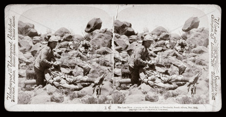 'The Last Drop  scene on the Battlefield at Dordrecht  South Africa'  1899.