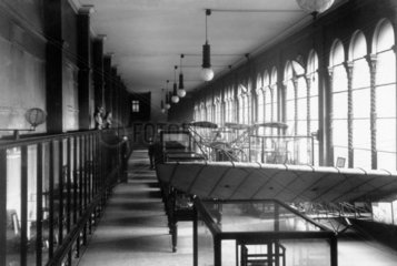 Aeronautics Gallery in the Cole building  Science Museum  London  c 1910s.
