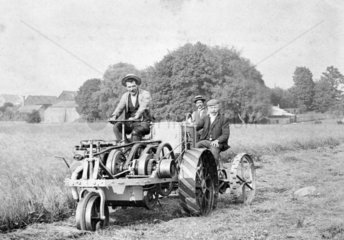 Ivel agricultural tractor  c1920s  pulling