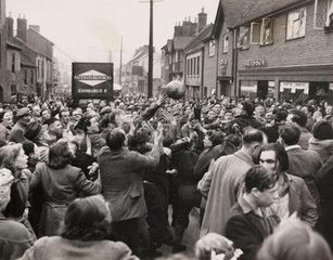 'Shrovetide Football at Ashbourne'  21 February 1950.