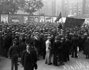 An unemployment demonstration at Westminste