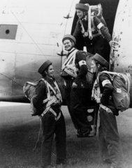 Royal Air Force para-nurses at Upper Heyford  Oxfordshire  7 October 1948.