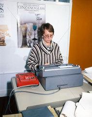 Audio-typist  c 1970s.