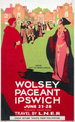 'Wolsey Pageant  Ipswich  June 23-28'  LNER poster  1923-1947.