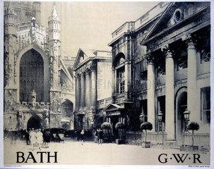 'Bath'  GWR poster  1926.