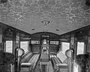 LNWR Picnic Saloon Interior  c 1920s.