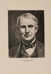 Thomas Alva Edison  American inventor  early 20th century.