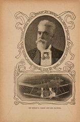 'Sir Hiram Maxim and his Machine'  1902.