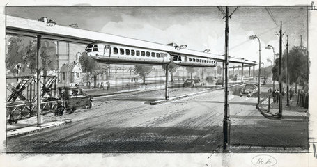 The coming of the monorail  1956.