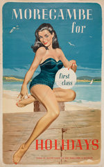 'Morecambe for First Class Holidays'  BR poster  1960.