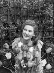 Woman and tulips  1951.