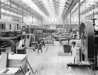 Wagon building at Newton Heath works  Greater Manchester  c 1927.