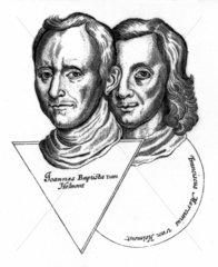 Joannes Baptiste van Helmont and Franciscus Mercurius van Helmont  17th century.