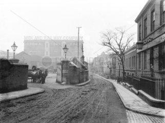 Midland Railway goods offices at Poplar Dock  London  1898.