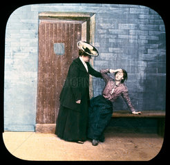 Two women in a prison cell  c 1895.