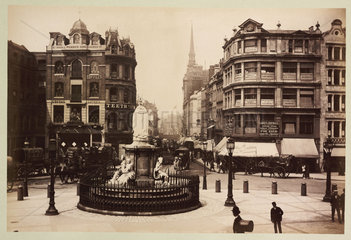 'Ludgate Hill From St Paul's Cathedral'  c 1890.