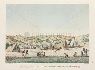 French sailors at camp  New Holland  1817-1820.