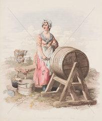 'Woman Churning Butter'  1808.