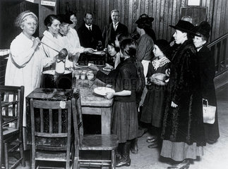 Communal kitchens for the poor  c 1918.