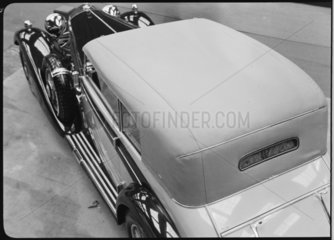 Mercedes Benz motor car viewed from above  c 1934.