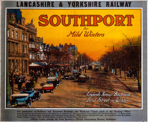'Southport for Mild Winters'  LYR poster  c 1915-1923.