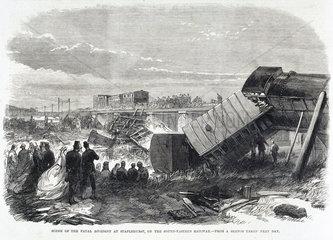 Fatal accident at Staplehurst  Kent  June 1865.