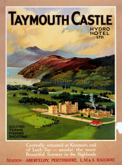 'Taymouth Castle'  LMS poster  1923-1947.
