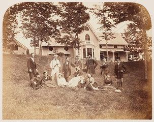 'Servants group'  1860.
