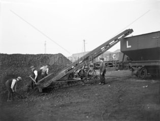 Coal conveyor at Formby power station  1920