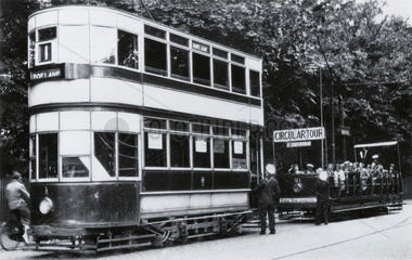 Roelane double deck electric tram  Southport  Merseyside  1932.
