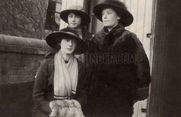 Mother and her two daughters  England  1915.