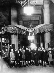 Schoolchildren with the Frost Ornithopter  Science Museum  c 1936.