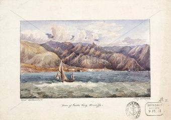 Town of Santa Cruz  view from the water  Tenerife  May 22  1828.