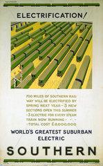 'Electrification'  poster  1925.
