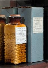 Tabloid sugar coated cascara sagrada  late 19th early 20th century.