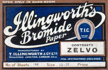 Illingworth's Bromide Paper  c 1930s.