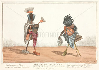 'Implements Animated'  figures composed of cutley and crockery  1811.